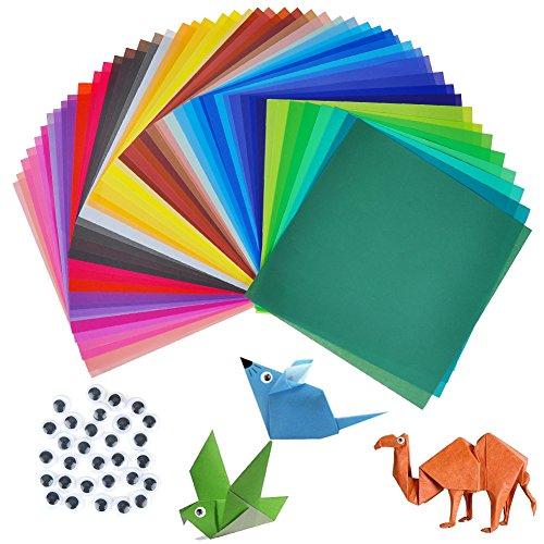 100st. Origami Papier zum Falten von Origami Tieren bunte Papier 20x20 cm und 50 verschiedene Farben