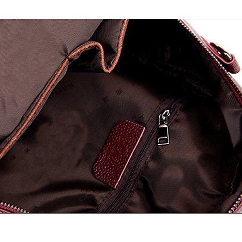 Sacchetto Di Spalla Dello Zaino Del Sacchetto Di Cuoio Della Signora Fashion PU Sacchetto Di Viaggio Della Borsa Della Cartella Per Le Donne Multicolori Bronze