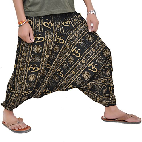 ROYAL HANDICRAFTS Cotton Hippie Baggy Yoga Harem Pants for Men...