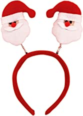 PartyHut Women Girl Cute Christmas Headband Decoration Santa Claus Snowman Festival Hair Band Bell Feather Accessories Christmas Gift (D13)- Pack of 1
