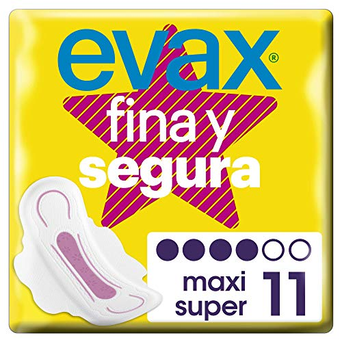 Evax Fina Segura Super/Maxi Compresas Con Alas - 11
