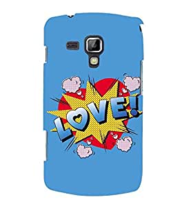 For Samsung Galaxy S Duos S7562 Love, Blue, Lovely pattern, Amazing Pattern, Printed Designer Back Case Cover By CHAPLOOS