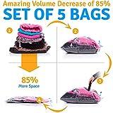 5 Vacuum Storage Bags - Space Saver Plastic Vacuum Sacks: 2 Jumbo (31x39 ) 2 Medium (23x31 ) 1 Small (19x23 )