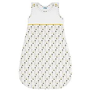 Unisex Schlafs/äcke Baby - Franz/ösisches Design 100/% Biobaumwolle von Sweety Fox Gr/ö/ße 70 cm OEKO TEX Garantiert Chemiefrei Baby Schlafsack Hochwertiger Rei/ßverschluss mit Schutz 0-6 Monate