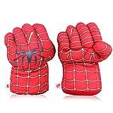 Yxaomite 1 Paar Spiderman Handschuhe Lustig Boxhandschuhe Spiderman Film Superheld Plüsch Faust Boxen Spielzeug Cosplay Kostüm Geburtstag Geschenk zum Spass Spielzeuge Kinder The Avengers 30 cm-Rot