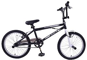 "Ammaco Freestyler 20"" Wheel Kids BMX Bike 360 Gyro & Stunt Pegs Black/White by Ammaco"
