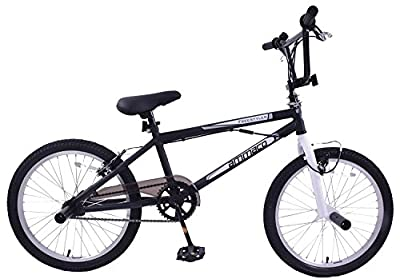 "Ammaco Freestyler 20"" Wheel Kids BMX Bike 360 Gyro & Stunt Pegs Black/White by Ammaco"
