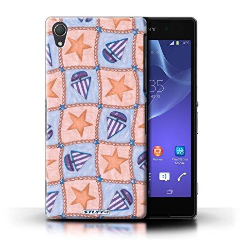 Kobalt® Imprimé Etui / Coque pour Sony Xperia Z2 / Pourpre/Vert conception / Série Bateaux étoiles Pêche/Violet