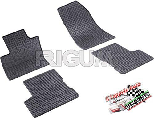 Il Tappeto Auto JEG903317 tappeti auto gomma su misura inodore con distanza fori fissaggi tappeto anteriore lato passeggero 20.0CM (Renegade 2014>)