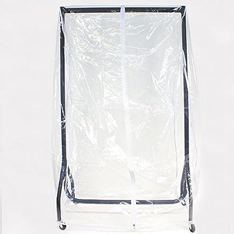Abdeckhaube für Kleiderständer mit der Breite 90cm, Transparente Schutzhülle mit ein (Schutzhülle Für Kleiderständer)
