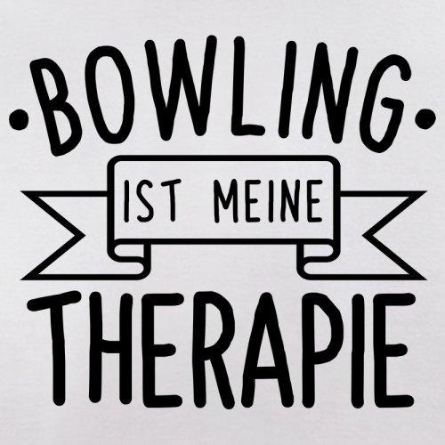 Bowling ist meine Therapie - Herren T-Shirt - 13 Farben Weiß