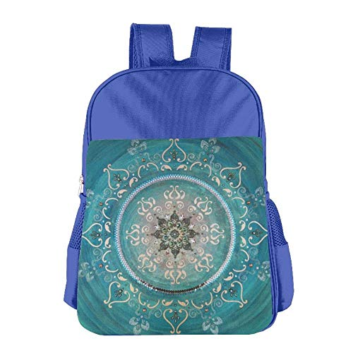 aea833abb9 Gradient Blue Totem Flowers Children School Backpack Carry Bag for Kids  Boys Girl