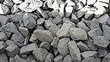 25 kg Anthrazit Basaltsplitt 70-160 mm - Basalt Splitt Edelsplitt Lava Lavastein - LIEFERUNG KOSTENLOS
