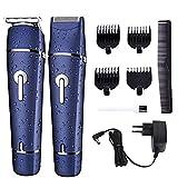 Taglia capelli elettrico Gleading Rasoio barba uomo waterproof impermeabile multifunzione 2 in 1 Kit Macchinetta taglia capelli