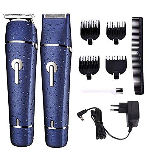 GLEADING Elektrischer Haarschneider Trimmer für Männer und Elektrischer Bartschneider Nassrasierer wasserdicht für Männer Multifunktional 2 in 1 Pflegeset Haarschneidemaschine