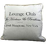 Mars & More - Kissen, Sommerkissen, Zierkissen - Lounge Club - Farbe: Weiß - 40 x 40 cm - mit Füllung - 100 % Baumwolle