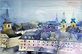 Poster 150 x 100 cm: Linz, Blick zu Dom von Johann Pickl -