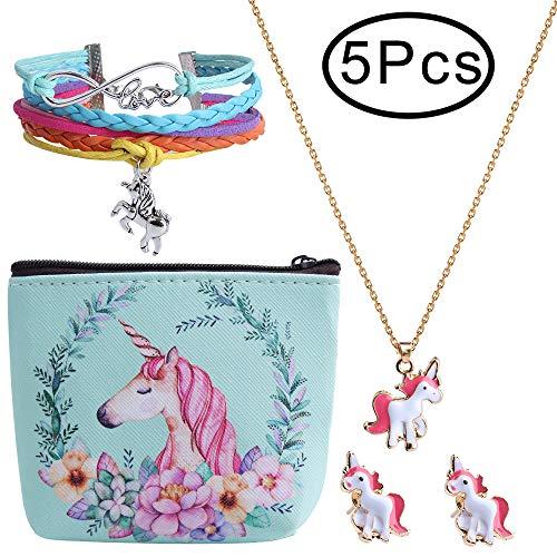 Defrsk 5PCS Regalo niñas temática Unicornio Incluye