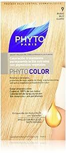 Phyto Color Coloration Soin Permanente Haute Brillance aux Pigments Végétaux - N°9 : Blond Très Clair