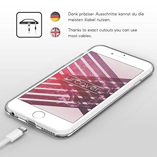 iPhone 6 / 6s Coque, Urcover [Étui Boho Style] Téléphone Housse Mirroir Bord Arrondis Case Fuchsia pour Apple iPhone 6 / 6s Smartphone Argent
