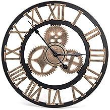 91218a72bb05 WHJY Reloj de Pared Vintage – Reloj de Pared Retro Estilo artistico Europeo  con Corona Decorativa