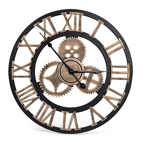 WHJY Reloj de Pared Vintage-Reloj de Pared Retro Estilo artistico Europeo...