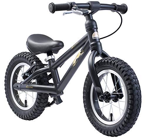 BIKESTAR Bicicleta sin Pedales para niños y niñas 3-4 años   Bici con Ruedas de 12' Edición Bici de montaña   Negro