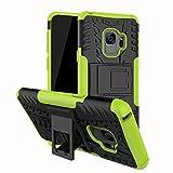 Samsung Galaxy S9 Hülle,Samsung Galaxy S9 Handy Tasche,Roreikes Hyun Muster Dual Layer Hybrid Armor Rüstung 2 in 1 Stoßfest Hülle Schutzhülle Shockproof Anti-Schock Case mit Unterstützung Standfunktion Handyhülle Silikon Tasche für Samsung Galaxy S9 5.8 Zoll