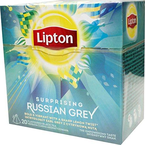 Lipton Russian Grey Tea Aromatisierter Schwarztee 3 x 20 Pyramiden Teebeutel