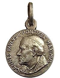 a4c03d144418 Medalla de Santo Papa Juan Pablo II de Plata Maciza 925 - Las Medallas de  Los