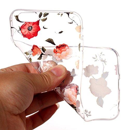 "Coque pour Apple iPhone 6S / 6 , IJIA Transparent Mignon Licorne TPU Doux Silicone Bumper Case Cover Shell Housse Etui pour Apple iPhone 6S / 6 (4.7"") XY17"