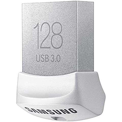Samsung FIT - Memoria USB 3.0 de 128 GB (velocidad hasta 130 MB/s, compatible con USB 2.0), color blanco