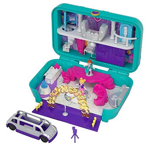 Polly Pocket Maletín fiesta divertida, muñeca con accesorios (Mattel FRY41)