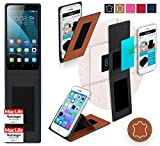 Huawei Honor 4X Hülle Cover Case in Braun Leder -