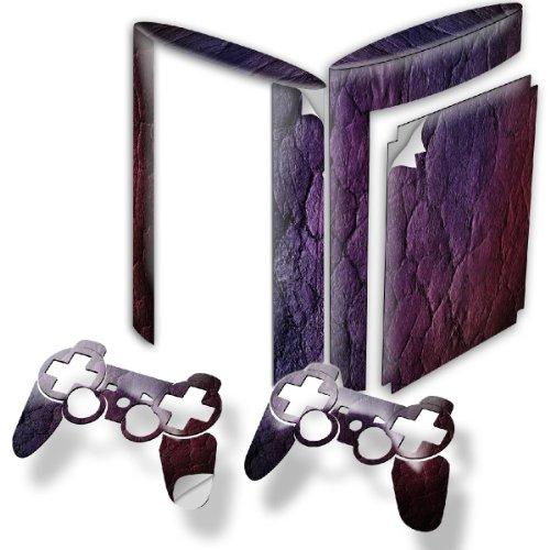 Lila, Designfolie Sticker Skin Aufkleber Schutzfolie mit Farbenfrohem Design für PlayStation 3 Super Slim (Gta 6 Für Playstation 3)
