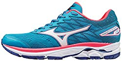 Mizuno Women Wave Rider 20 (W) Running Shoes, Blue (Atomic Bluewhitediva Pink), 9 Uk 43 Eu