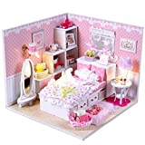 #9: Imported DIY Wooden Dolls house Miniature Kit w/ Light -Bedroom-15018595MG