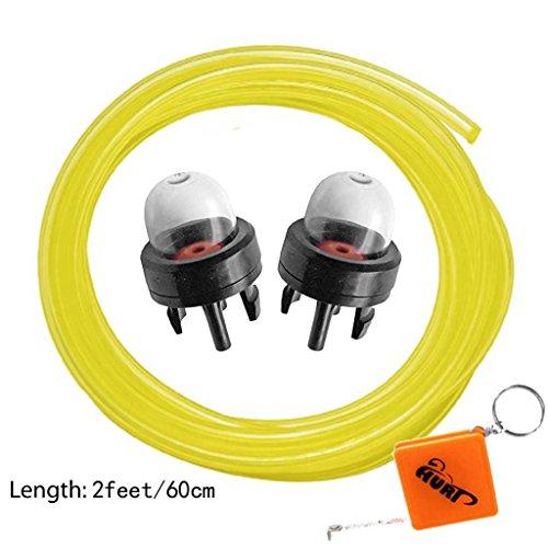Preisvergleich Produktbild HURI 2x Vergaser Primer Zündkapsel Pumpe Benzinpumpe passend für Dolmar PS32 PS35 PS330 PS340 PS341 PS350 PS410 PS411 Motorsäge und Benzinschlauch