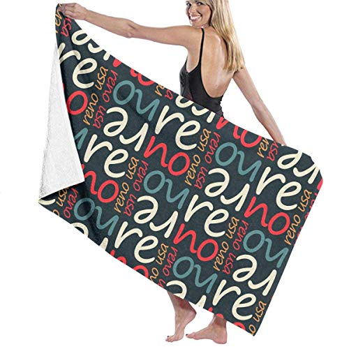 fdgjfghjdfj Unisex Reno USA Pattern Over-Sized Cotton Bath Beach Travel Towels 31x51 Inch
