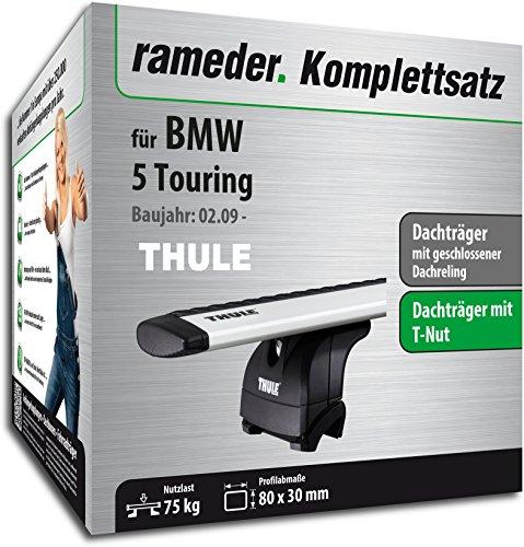 Rameder Komplettsatz, Dachträger WingBar für BMW 5 Touring (114450-08762-1)