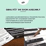 Klavier + Keyboard Noten-Aufkleber für 49   61   76   88 Tasten + Gratis Ebook   Premium Piano Sticker Komplettsatz für schwarze + weisse Tasten   C-D-E-F-G-A-H   einfache Anleitung auf Deutsch - 2