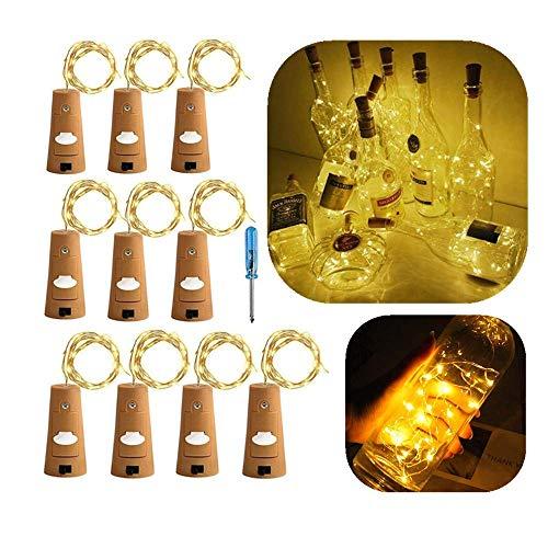 10x 20 LED Flaschen-Licht OASMU Kupferdraht Flaschenlichter Kork -