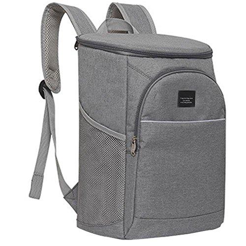 Hifuture borsa termica porta pranzo leggero grande capacità tracolla regolabile confortevole e traspirante borsa per il pranzo a tenuta stagna per picnic campeggio e hiking light gray