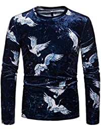 BUSIM Men's Long Sleeve Sweater Autumn Winter Casual Pullover Trend Personality Print O-Neck Slim Fashion Sweatshirt... - B07HKGNKQ1