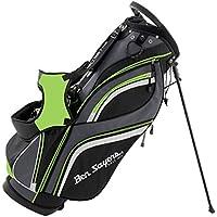 Ben Sayers Men's 14 Way Divider Stand Bag - Black/Lime Green