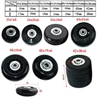 MIAYAYA - Dos ruedas de repuesto para maletas o patines en línea, con rodamientos ABEC 608z, 64mm x 18mm