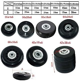 MIAYAYA – Dos ruedas de repuesto para maletas o patines en línea, con rodamientos ABEC 608z