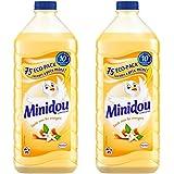 Minidou - Lot de 2 - Adoucissant Liquide Concentré - Fleur d'Oranger et Agrumes - Eco Pack 1,875 L / 75 Lavages