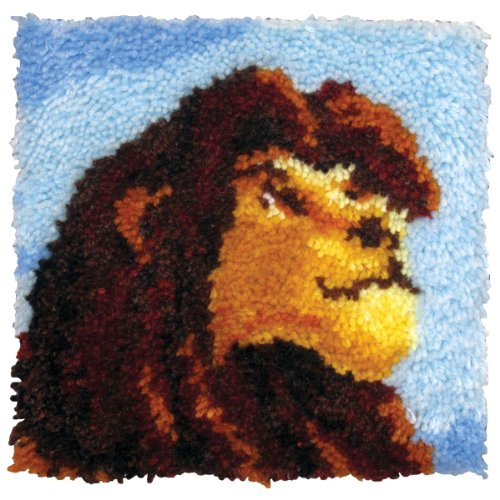 M C G Textiles 12x 12Zoll König der Löwen Kissen Knüpfset (Löwen Mesh)