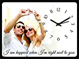 #9: Design Connection Birthday/Anniversary gift table clock- gift for Girlfriend, Boyfriend, Husband, Wife, Mom, Dad, customised / personalized (8x6 inch)